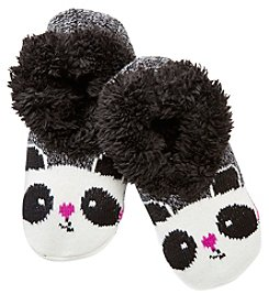 Fuzzy Babba® Teddy Fur Panda Slipper Socks