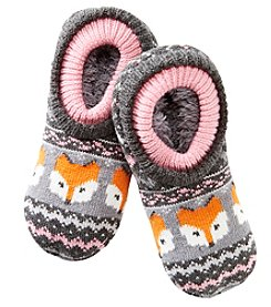 Fuzzy Babba® Double Cuffed Fox Slippers