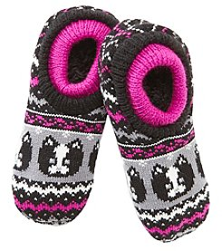 Fuzzy Babba® Double Cuffed Pug Slippers