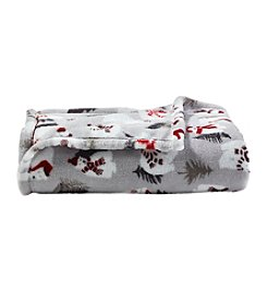 Living Quarters Micro Cozy Holiday Polar Bear Print Throw