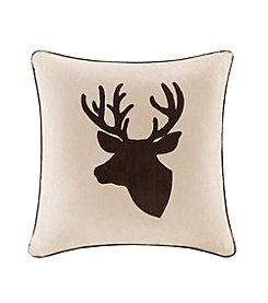 Madison Park™ Deer Embroidered Suede Square Pillow