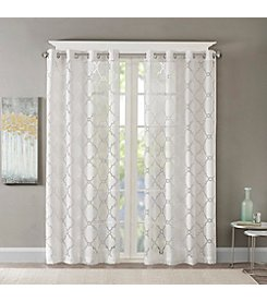 Madison Park™ Eden Fretwork Burnout Sheer Panel