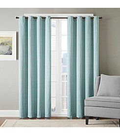 Madison Park™ Eliza Chevron Cotton Blend Jacquard Window Curtain
