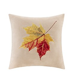 Madison Park™ Leaf Embroidered Square Pillow