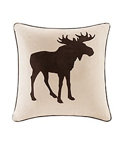 Madison Park™ Moose Embroidered Suede Square Pillow