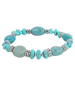 Chaps® Turquoise Bead Stretch Bracelet