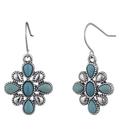 Chaps® Turquoise Flower Concha Earring