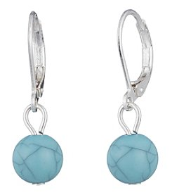 Chaps® Turquoise Round Drop Earrings