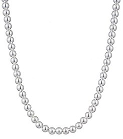 Chaps® Silvertone Bead Necklace