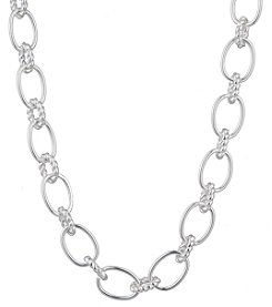 Chaps® Polished Chain Link Collar Necklace