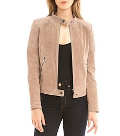 Bagatelle® Suede Quilted Moto Jacket
