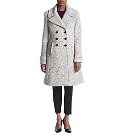 Ivanka Trump® Fit And Flare Boucle Coat