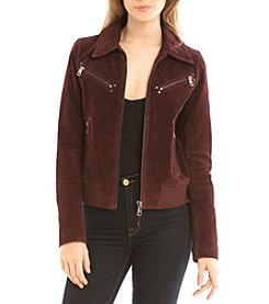 Bagatelle® Suede Aviator Jacket with Hood