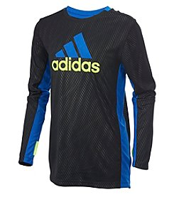 adidas® Boys' 2T-7X Long Sleeve Helix Vibe Training Tee
