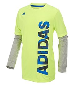 adidas® Boys' 2T-7 Long Sleeve Linear Tee