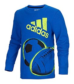 adidas® Boys' 2T-7X Long Sleeve All Sport Wrap Tee