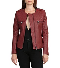 Bagatelle® Collarless Quilted Moto Jacket