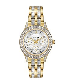 Bulova Women's Swarovski Crystals Collection Stainless Goldtone Multifunction Bracelet Watch