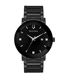 Bulova Men's Modern Collection Black IP Stainless Bracelet Watch