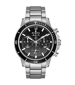 Bulova Men's Marine Star Stainless Chrono Bracelet Watch
