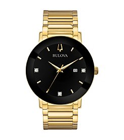 Bulova Men's Modern Collection Black IP and Gold-tone Stainless Bracelet Watch