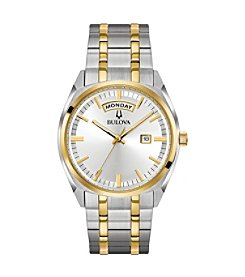 Bulova Men's Classic Collection Two-tone Stainless Bracelet Watch