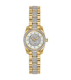 Bulova Women's Swarovski Crystals Collection Stainless Goldtone Bracelet Watch