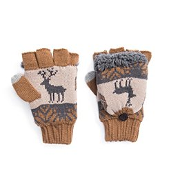 MUK LUKS® Men's Fingerless Flip Mittens