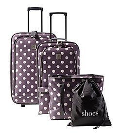 Travel Quarters Dotted 5-pc 2-wheeled  Luggage Set