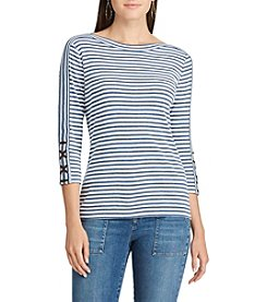 Chaps® Striped Boatneck Top