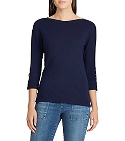 Chaps® Boatneck Top