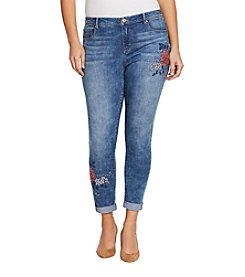 Bandolino Karyn Chrysanthemum Embroidered Jeans