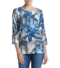 Alfred Dunner® Petites' Mosaic Floral Top