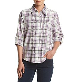 Alfred Dunner® Petites' Plaid Top
