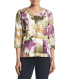 Alfred Dunner® Petites' Floral Printed Top