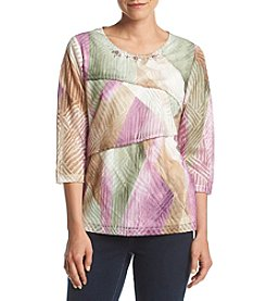 Alfred Dunner® Petites' Printed Tiered Top