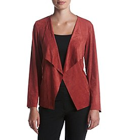 Alfred Dunner® Petites' Cascade Faux Suede Jacket