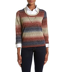 Alfred Dunner® Petites' Spacedye Sweater