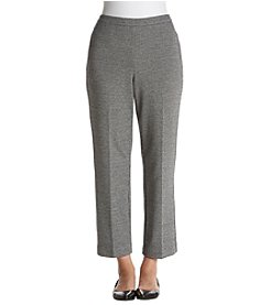 Alfred Dunner Petites' Houndstooth Knit Pants