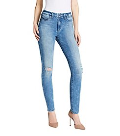 Jessica Simpson Curvy High Rise Skinny Destructed Jeans