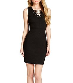 Jessica Simpson Terrie Lace-Up Bodycon Dress