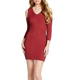 Jessica Simpson Cold Shoulder Sweater Dress