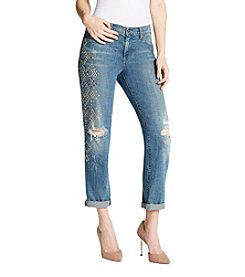 Jessica Simpson Destructed Detail Boyfriend Jeans