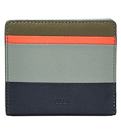 Fossil® Emma RFID Navy Stripe Mini Wallet