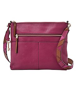 Fossil® Fiona Large Crossbody With Embroidered Strap
