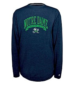 Champion® NCAA® Notre Dame Men's In Pursuit Long Sleeve Crew Neck