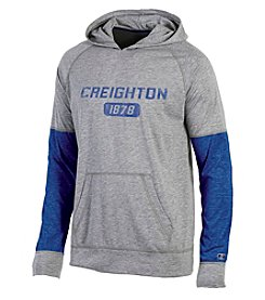 Champion® NCAA® Creighton Bluejays Men's Long Sleeve Colorblocked Split Hoodie