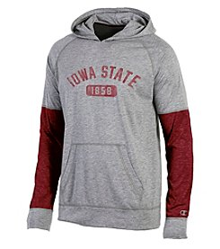 Champion® NCAA® Iowa State Cyclones Men's Long Sleeve Colorblock Split Hoodie