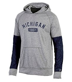 Champion® NCAA® Michigan Wolverines Men's Long Sleeve Colorblock Split Hoodie