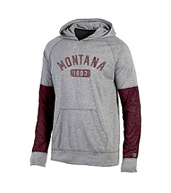 Champion® NCAA® Montana Grizzlies Men's Long Sleeve Colorblock Split Hoodie